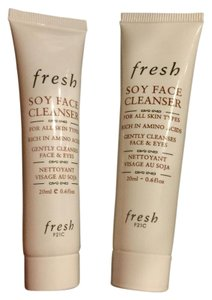 Fresh Lot of 2 NEW FRESH Soy Face Cleanser W/Amino Acids For Face and Eyes