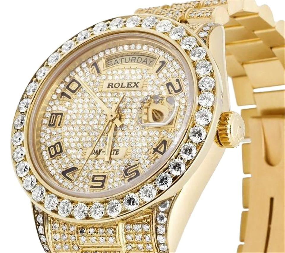 f98586758356 Rolex 18k Mens Yellow Gold Rolex Presidential Day-date Diamond Watch 15 Ct  Image 0 ...