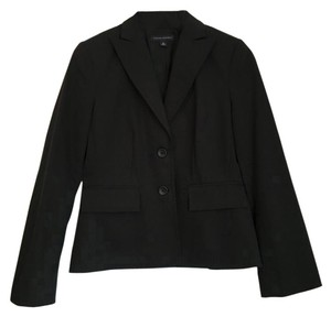 Banana Republic Nicely Tailored Rayon Lining Cotton Black Blazer