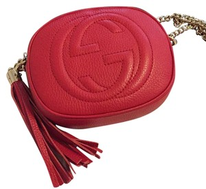 GucciSoho Leather Mini Chain Crossbody Bag Cross Body Bag