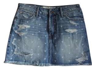Abercrombie & Fitch Denim Cotton Mini Skirt blue