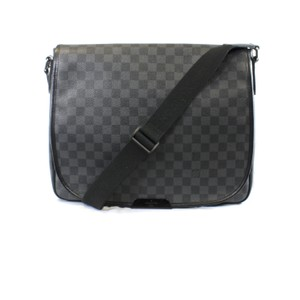 Louis Vuitton Damier Graphite Daniel Gm Black and Gray Messenger Bag