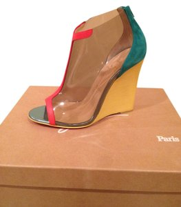 Christian Louboutin Pvc Multi Color Wedges