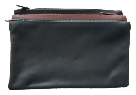 Preload https://item3.tradesy.com/images/black-brown-and-green-leather-triple-set-cosmetic-bag-1953347-0-0.jpg?width=440&height=440