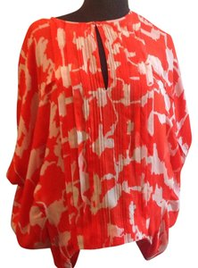 Diane von Furstenberg Top Red/orange & white