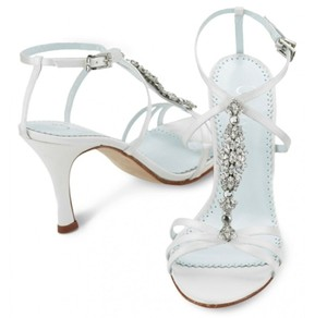 Silk With Rhinestonestones Wedding Shoes