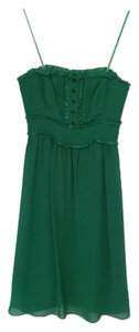 Anthropologie Emerald Strapless Convertible Dress