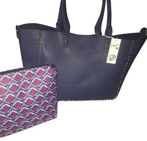 Alyssa Tote in Navy Blue