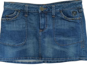 Harley Davidson Mini Skirt Dark wash