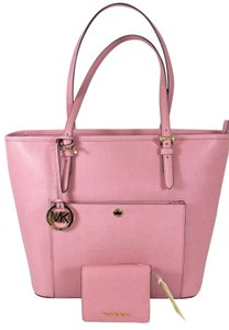 Michael Kors Leather Tote in Misty Rose