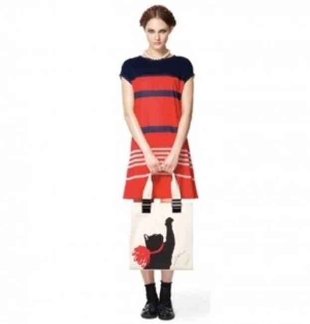 Jason Wu for Target short dress Red, Navy Blue Stripes Classic Shift Shift French Nautical Sheer on Tradesy