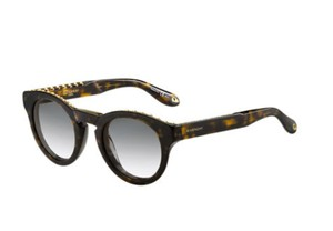 Givenchy Brand New Givenchy Studded Rounded Square Sunglasses in Dark Havana