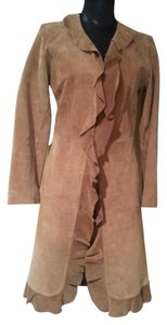 Margaret Godfrey Leather Winter Fall Suede Jacket Trench Coat