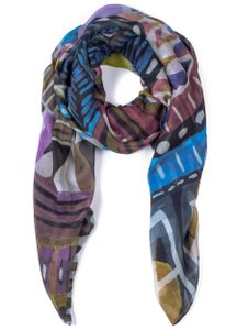 Front Row Society Chamba Cashmere Blend Multi-Print Scarf