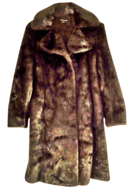 Item - Brown Luxurious Faux-mink Full Length In Ln Condition Coat Size 12 (L)