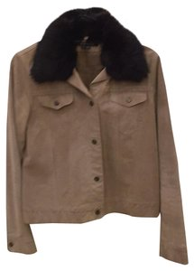 Theory Light brown suede Leather Jacket