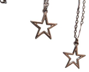 Vintage really awesome star necklace and waist chain in silver