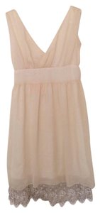 Swan goose nest short dress Cream on Tradesy