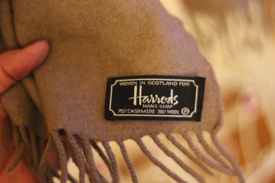 Harrods Harrods Scarf 70% Cashmere and 30% Wool Image 1
