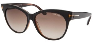 Tom Ford Tom Ford Women's Saskia Round Brown Sunglasses