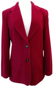 Rafaella Notched Collar Lined Burgundy Blazer