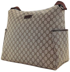 Gucci Nappy Tote Brown Diaper Bag