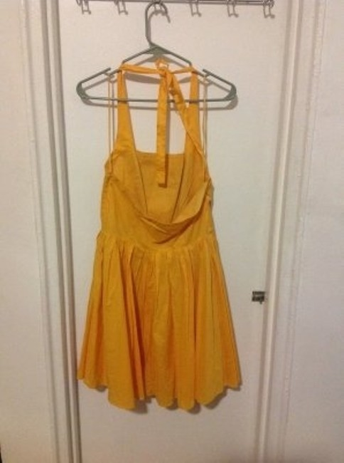 A|X Armani Exchange short dress yellow on Tradesy