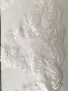 Ingle Tier Veil Scallop Edge Veil Wedding Veil