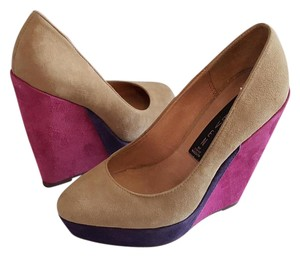 Steven by Steve Madden Cathi Suede Leather Multi Wedges