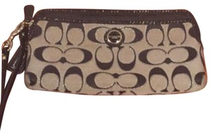Coach Wristlet in Black & Silver (the C's have a glittery outline)