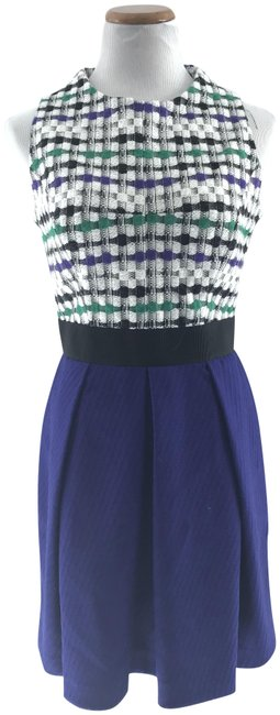 Preload https://item3.tradesy.com/images/milly-multicolor-houndstooth-top-fit-and-flare-short-workoffice-dress-size-8-m-1953537-0-2.jpg?width=400&height=650