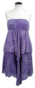 BCBGMAXAZRIA short dress Purple & Lavender Scarf Silk on Tradesy