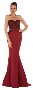 MNM Couture Mermaid Strapless Long Evening Party Dress