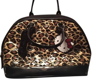 Hello Kitty Satchel in Leopard Print/Black