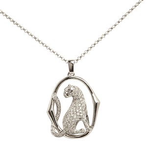 Other DIAMOND PANTHER PENDANT ON 18KT WHITE GOLD CHAIN