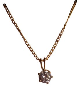 Simulated Diamond Solitaire Necklace