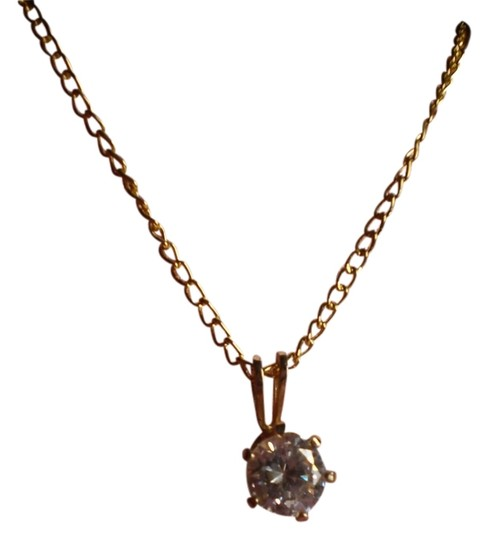 Other Simulated Diamond Solitaire Necklace Image 1