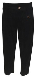 Burberry London Velvet Soft Medium Relaxed Pants Black