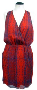 Aryn K short dress Red & Blue on Tradesy