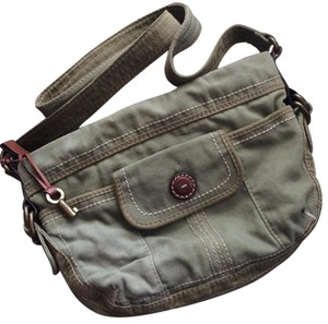 Fossil Canvas Hobo Cross Body Bag