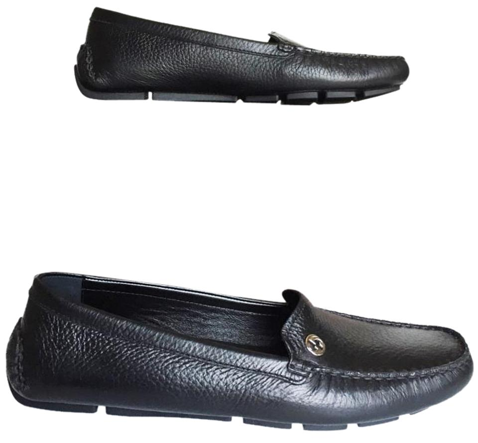 94e40a7cc3b Gucci Black Women s Tumbled Leather Driving Moccasins Loafers Flats ...