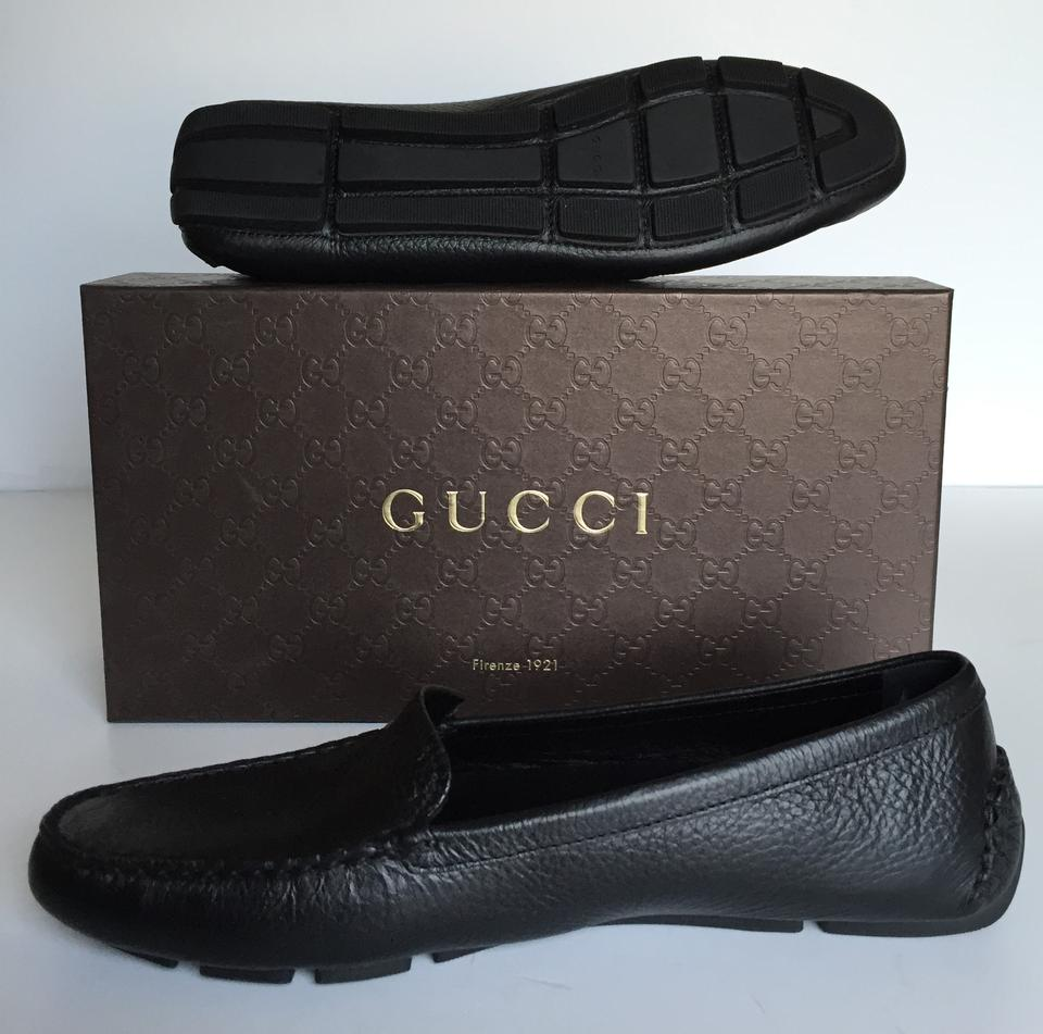82b7221dd55 Gucci Black Women s Tumbled Leather Driving Moccasins Loafers Flats Size EU  39 (Approx. US 9) Regular (M