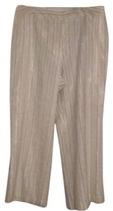 Talbots Straight Pants White with stripes