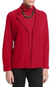 Eileen Fisher red Jacket
