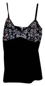 P.J. Salvage Top Black white paisley