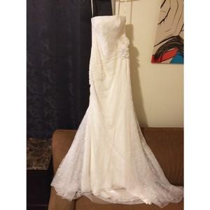 White by Vera Wang Ivory Feminine Wedding Dress Size 2 (XS)