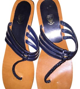 Gucci Dark blue Gucci thing sandals Sandals