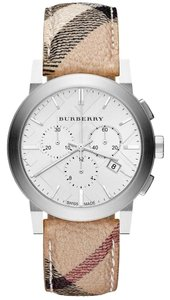 Burberry NWT Burberry Women's Swiss Chronograph Haymarket Check Watch BU9360