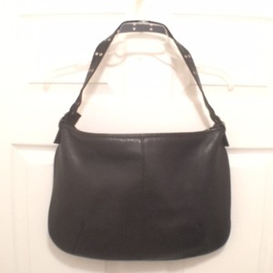 Hobo International Leather Hobo Weeken/travel Tote in Black