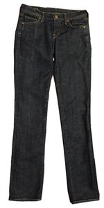 Citizens of Humanity Stretchy Straight Leg Jeans-Dark Rinse